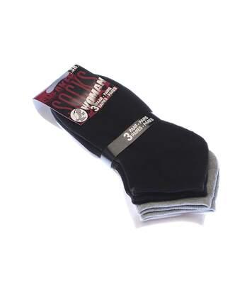 Chaussette Invisibles - Lot de 3 - Semelle bouclette - Fine - Multicolore - Socks Woman