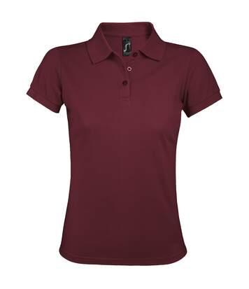 SOLs Womens/Ladies Prime Pique Polo Shirt (Burgundy) - UTPC494