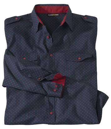 Рубашка из Поплина с Оригинальным Принтом