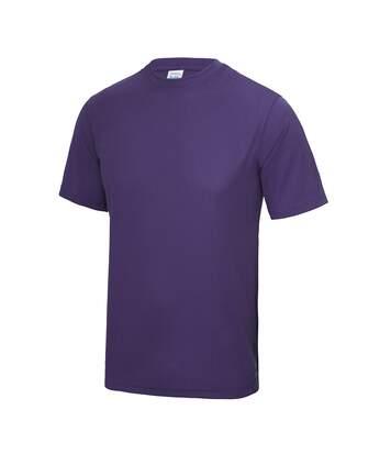 Just Cool Mens Performance Plain T-Shirt (Purple) - UTRW683
