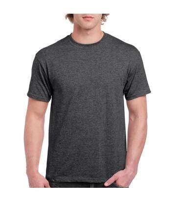 Gildan Mens Ultra Cotton Short Sleeve T-Shirt (Dark Heather) - UTBC475