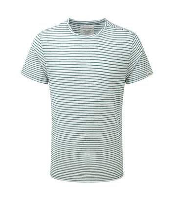 Craghoppers Mens Bernard Short Sleeve Stripe Summer T-Shirt (Lake Green) - UTCG224