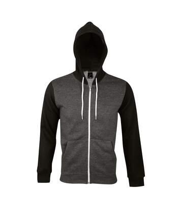 SOLS Silver Unisex Full Zip Hooded Sweatshirt / Hoodie (Abyss Blue) - UTPC342