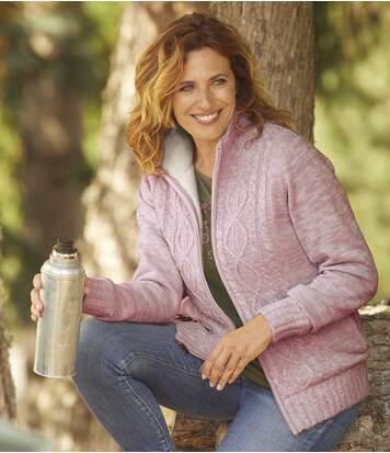 Трикотажная Куртка с Подкладкой из Флиса