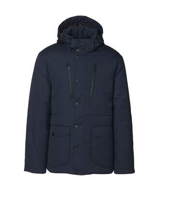 ID Mens Padded Smart Winter Parka Jacket (Navy) - UTID401