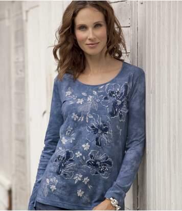 Блуза с Цветочным Принтом фото