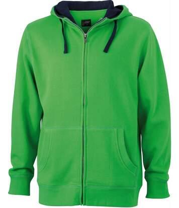 Sweat zippé à capuche homme - JN963 - vert lime