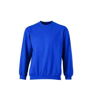Sweat-shirt col rond - JN040 - bleu royal - mixte homme femme