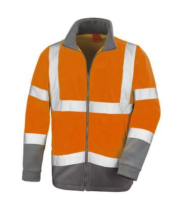 Result Core Mens Reflective Safety Micro Fleece Jacket (Pack of 2) (Orange) - UTRW6884
