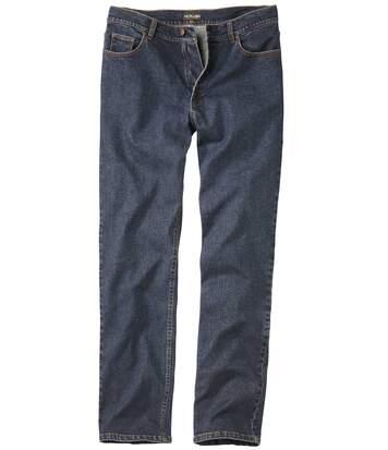 Men's Blue Dark Stretch Jeans - Denim