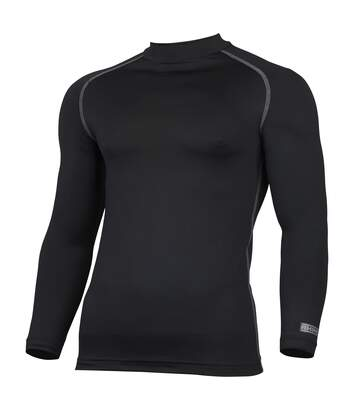 Rhino Mens Thermal Underwear Long Sleeve Base Layer Vest Top (Black) - UTRW1276