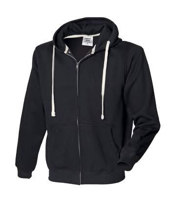 Front Row - Sweatshirt À Capuche Et Fermeture Zippée - Homme (Noir) - UTRW506