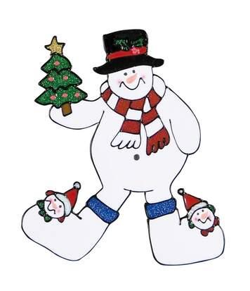 Christmas Shop - Stickers De Noël Pour Fenêtre (Bonhomme de neige) - UTRW5848