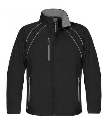Stormtech Mens Crew Softshell Jacket (Black/Granite) - UTBC1169