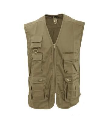 SOLS Wild Unisex Full Zip Waistcoat Bodywarmer Jacket (Black) - UTPC354