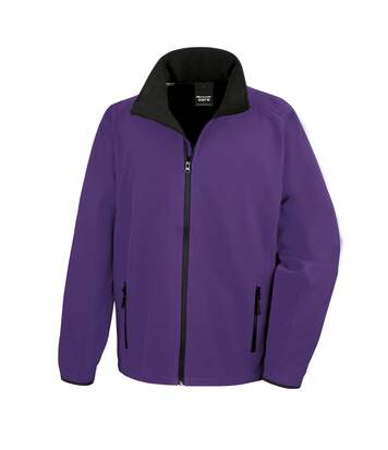 Result Mens Core Printable Softshell Jacket (Purple / Black) - UTRW3697