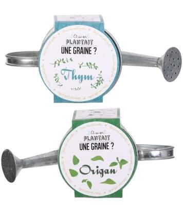 Graines à planter aromates avec arrosoirs (Lot de 2)