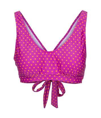 Trespass Womens/Ladies Natalia Bikini Top (Purple Orchid Spot) - UTTP4641