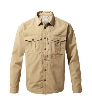Craghoppers Mens Kiwi Ripstop Long Sleeve Shirt (Raffia) - UTCG1217