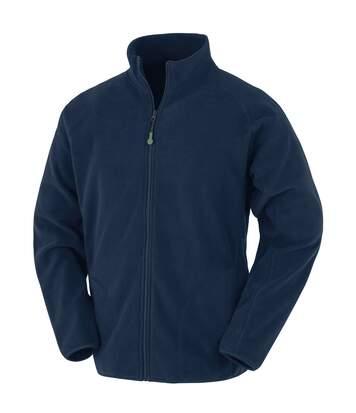 Result Genuine Recycled Mens Microfleece Jacket (Navy) - UTBC4892