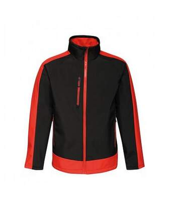 Regatta  Mens Contrast Three Layer Printable Soft Shell Jacket (Black/Classic Red) - UTPC3318