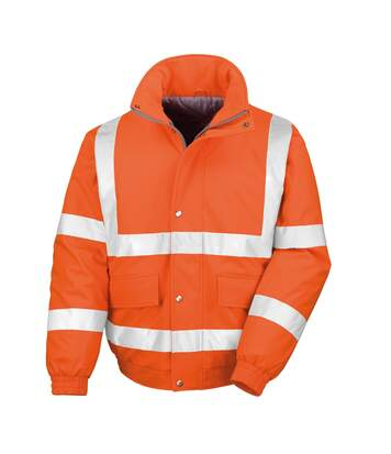 Result Mens Reflective Safety Padded Softshell Blouson Jacket (Orange) - UTRW4849