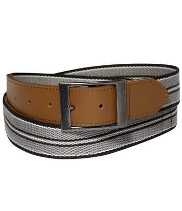 Men's Canvas Money Belt - Grey Black