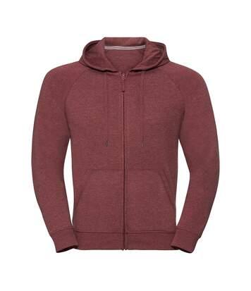 Russell - Sweat-Shirt Zippé Hd - Homme (Rouge foncé) - UTPC3136