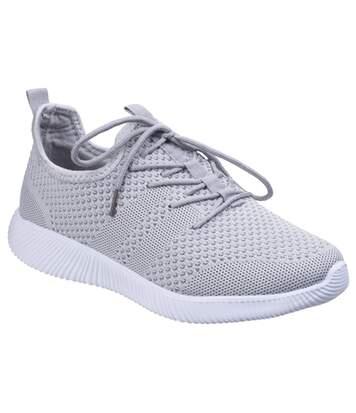 Divaz Womens/Ladies Heidi Knit Shoes (Grey) - UTFS5108
