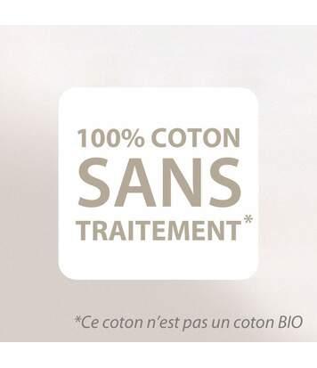 Housse de Protection d'oreiller 60x60 cm 100% coton gratté 2 faces environ 220g/m² AUBIN