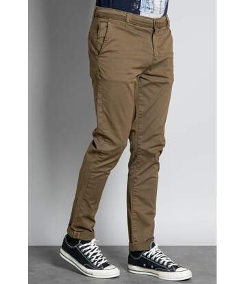 Pantalon chino slim COTTAGE Olive
