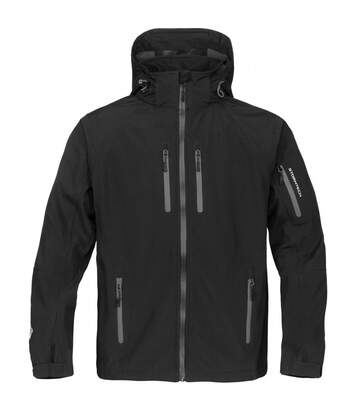 Stormtech Mens Expedition Softshell Breathable Waterproof Jacket (Black/Blue) - UTBC1538
