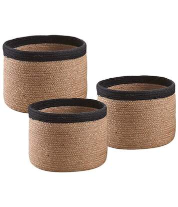 Cache-pot rond en jute (Lot de 3)