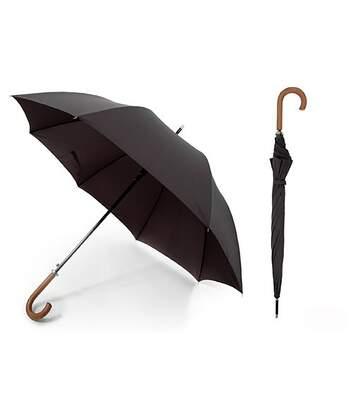 Parapluie Automatique Avec Poignée En Bois - Homme (Noir) - UTUM115