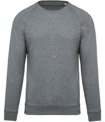 Sweat shirt coton bio - Homme - K480 - gris clair chiné