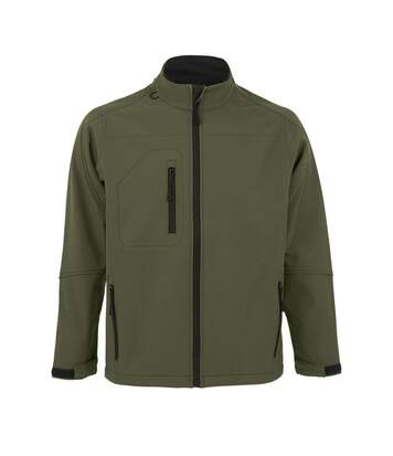 SOLS Mens Relax Soft Shell Jacket (Breathable, Windproof And Water Resistant) (Dark Green) - UTPC347
