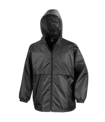 Result Mens Core Lightweight Waterproof Shield Windproof Jacket (Black) - UTBC898