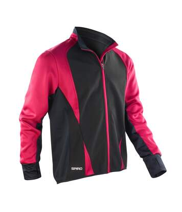Spiro Mens Freedom Softshell Sports/Training Jacket (Magenta/ Black) - UTRW2857