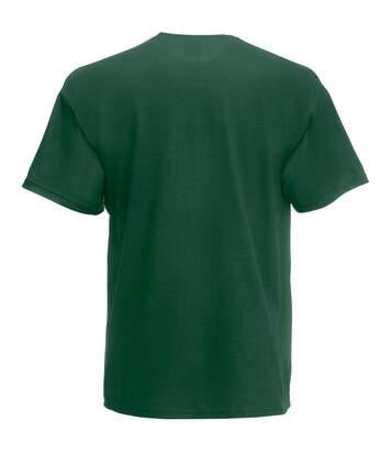 Fruit Of The Loom Mens Valueweight Short Sleeve T-Shirt (Bottle Green) - UTBC330
