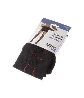 Collant fin - 1 paire - Fantaisie - Semi opaque - Mat - Gousset polyamide - A rayures - Noir