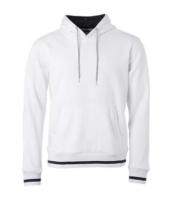 Sweat shirt à capuche homme - JN778 - blanc