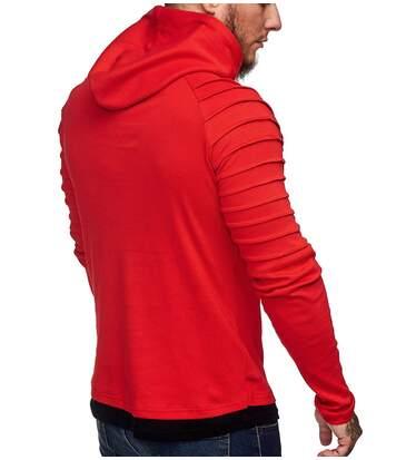 Sweat à capuche pour homme Sweat 1072 rouge
