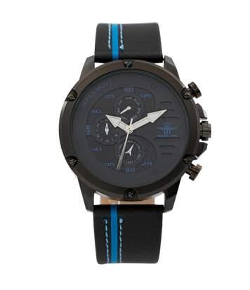 Montre Homme M. JOHN bracelet Cuir Noir