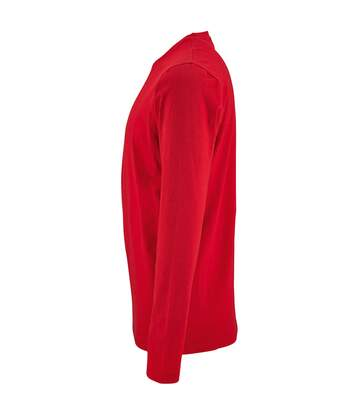 SOLS Mens Imperial Long Sleeve T-Shirt (Red) - UTPC2905