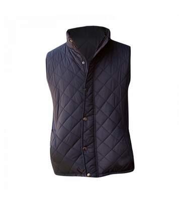 Front Row Mens Diamond Quilt Gilet / Bodywarmer (Black) - UTRW2687