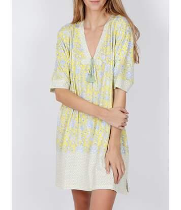 Chemise de nuit Yellow Hippy jaune Admas