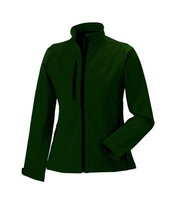 Jerzees Colours Ladies Water Resistant & Windproof Soft Shell Jacket (Bottle Green) - UTBC561