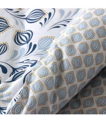 Parure de lit 240x220 cm 100% coton BAOBA bleu Denim 3 pièces