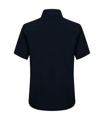 Henbury Mens Wicking Short Sleeve Work Shirt (Slate Grey) - UTRW2698