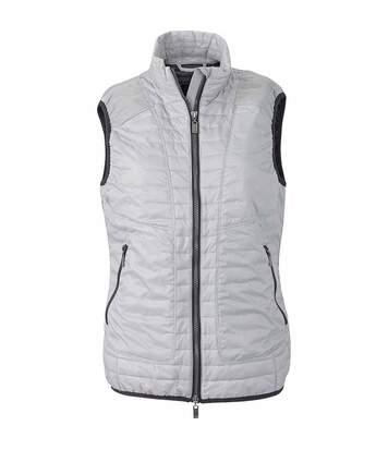 Gilet léger sans manches molletonné - JN1109 - gris argent - Femme